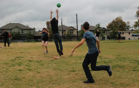 Math classes compete in kickball games