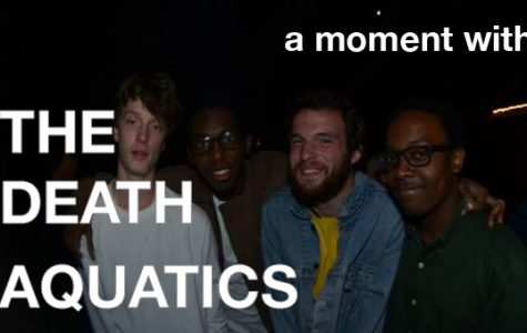 "A moment with student band ""The Death Aquatics"""