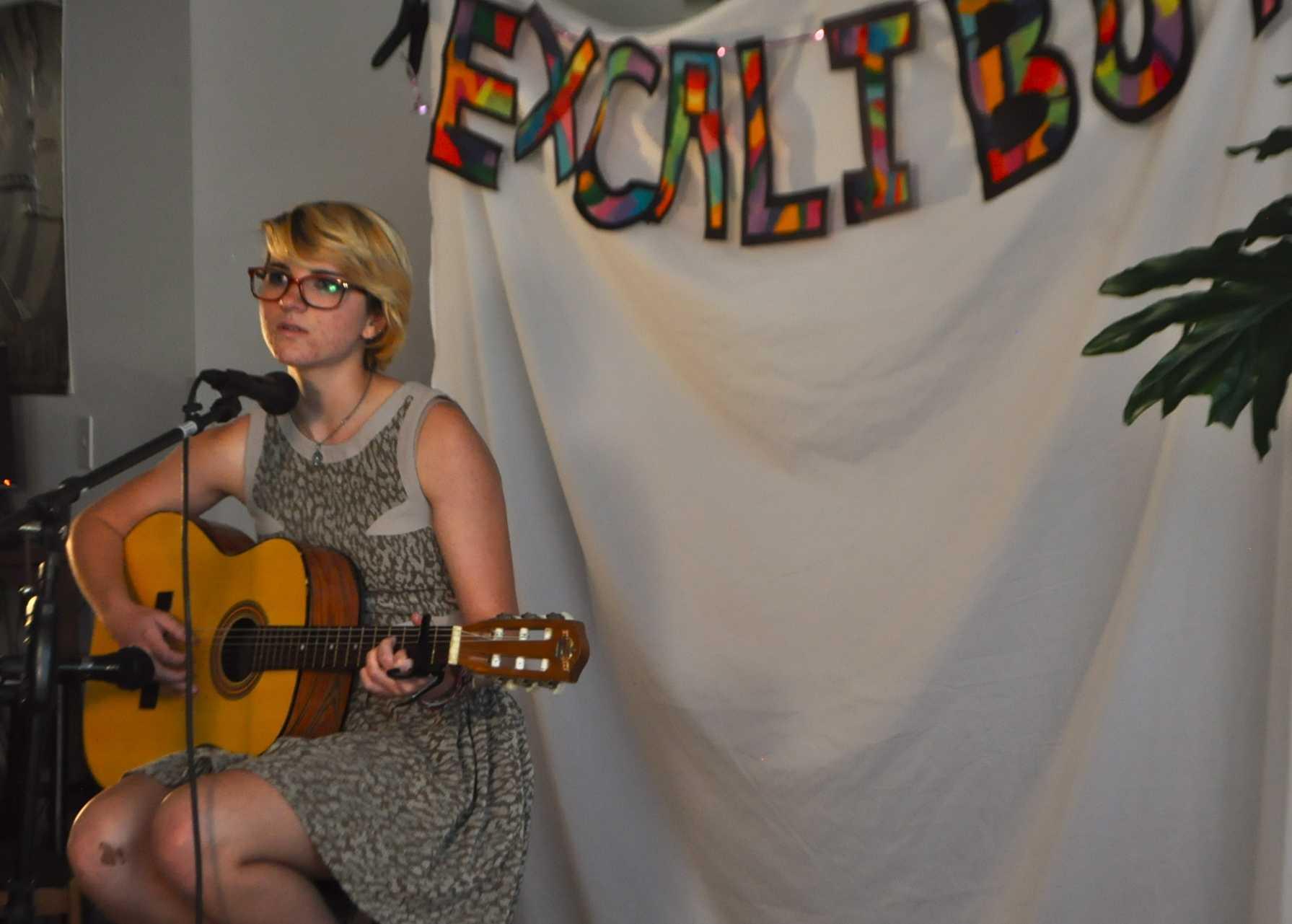 Senior Katie White performed her song, 'Soul Seeker.'
