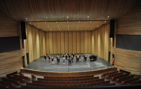 Steel band, musical theater students perform at new district arts center for tuning of hall