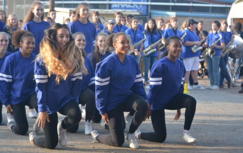 Outdoor pep rally a shining success