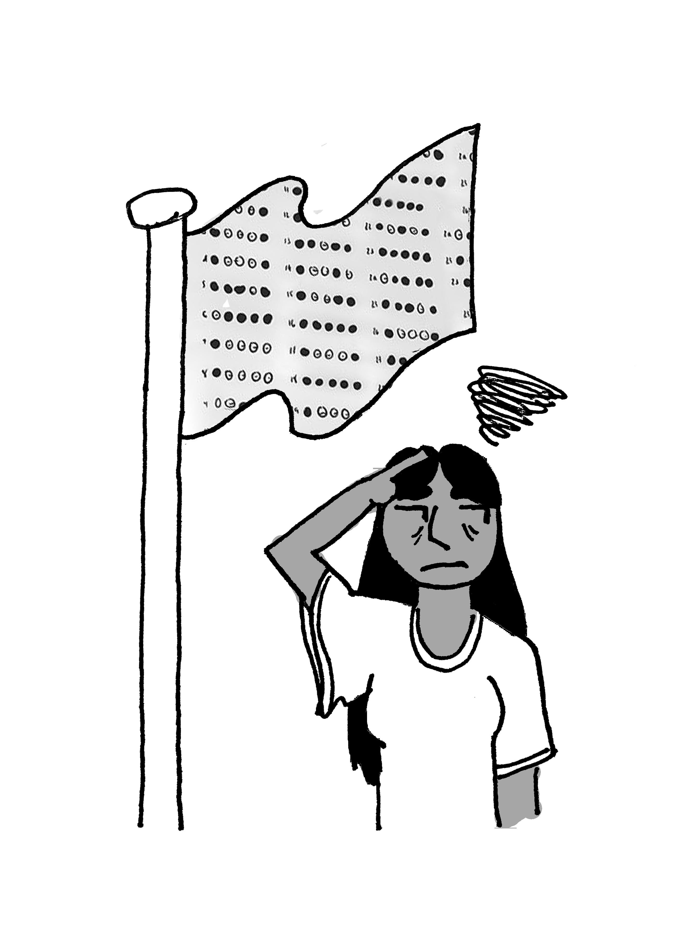 Cartoon by Rachel Wolleben.