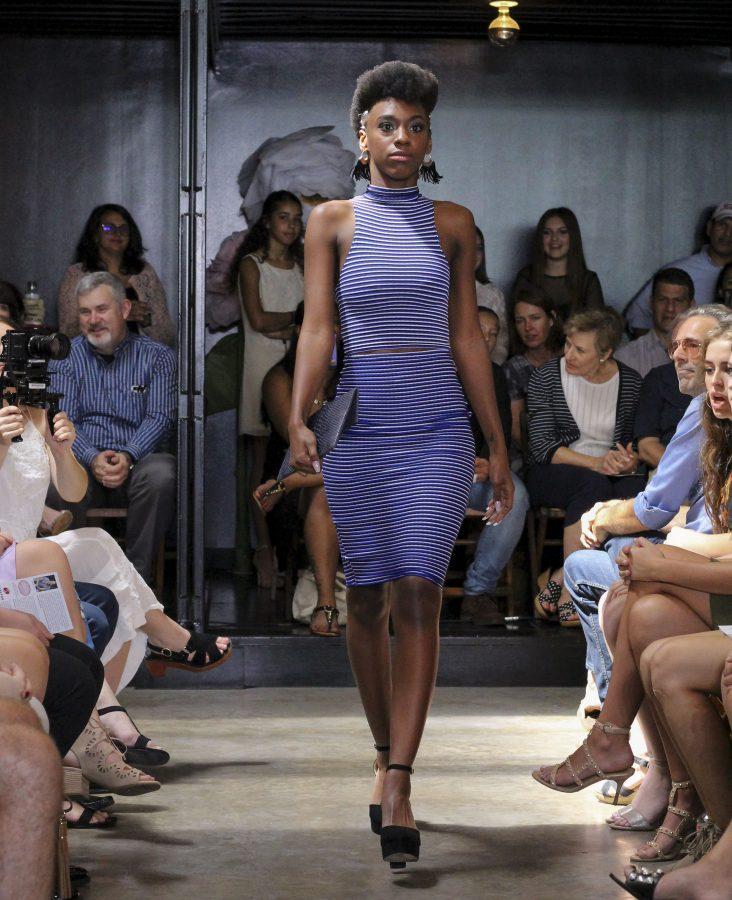 Model: Anterria White. Designer: Gaby Fagelman.