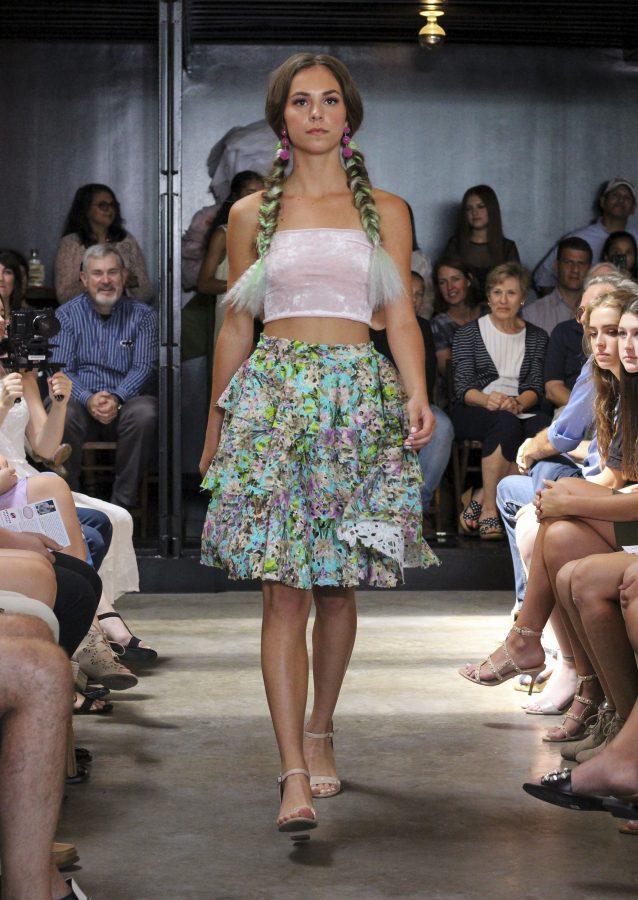 Model: Laney Phillips. Designer: Gaby Fagelman.