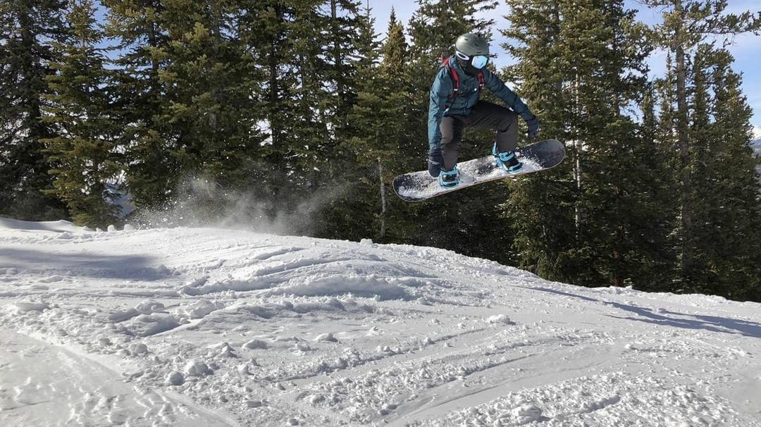 Bryn Lewis gets some serious air at Snowmass Resort in Colorado.