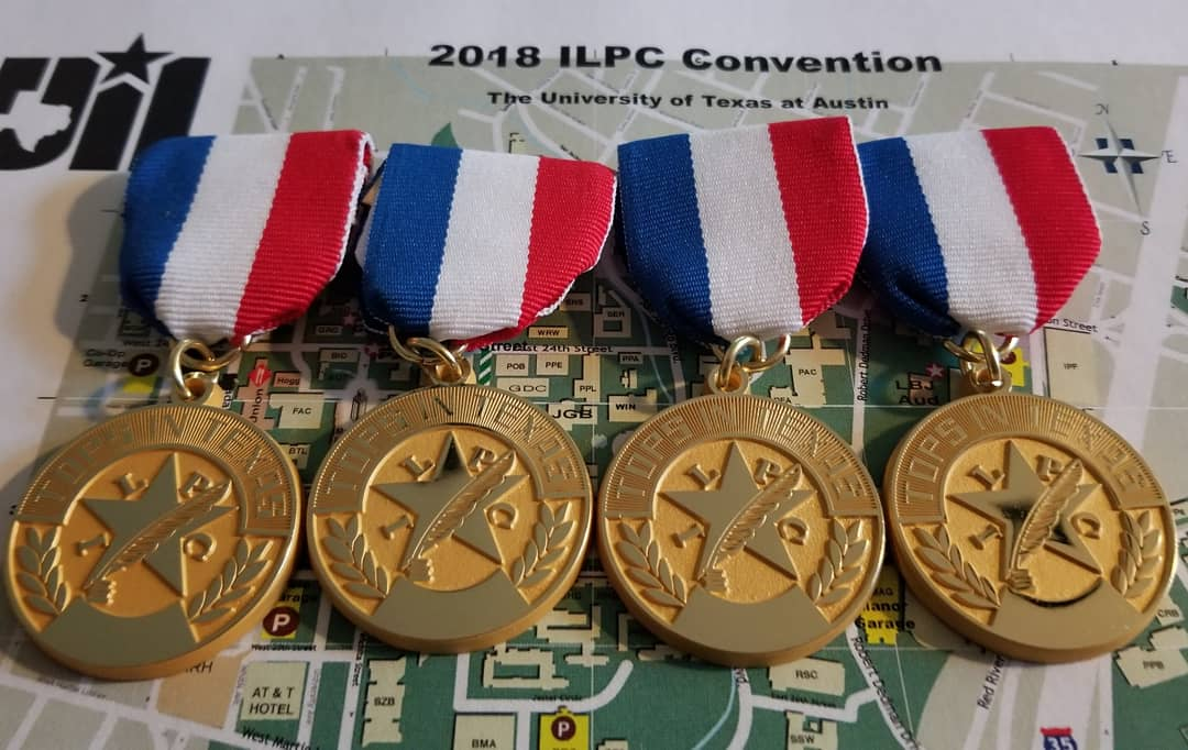 MacJournalism captured four Tops in Texas Awards at the 2018 ILPC Spring Convention at UT on Saturday.