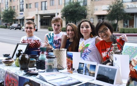 Student artists impart works to the community
