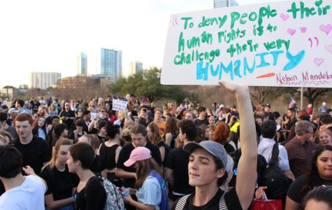 Hundreds walk out to join protests