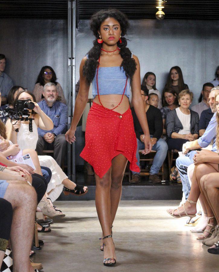Model: Daejha Taylor. Designer: Gaby Fagelman.