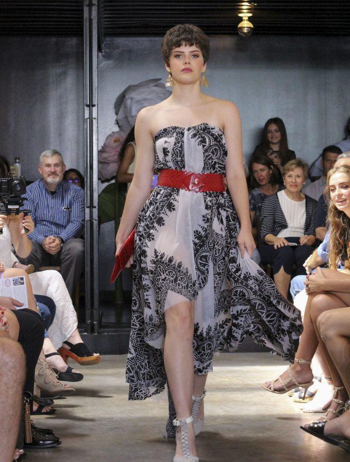 Model: Anna Marceau. Designer: Gaby Fagelman.