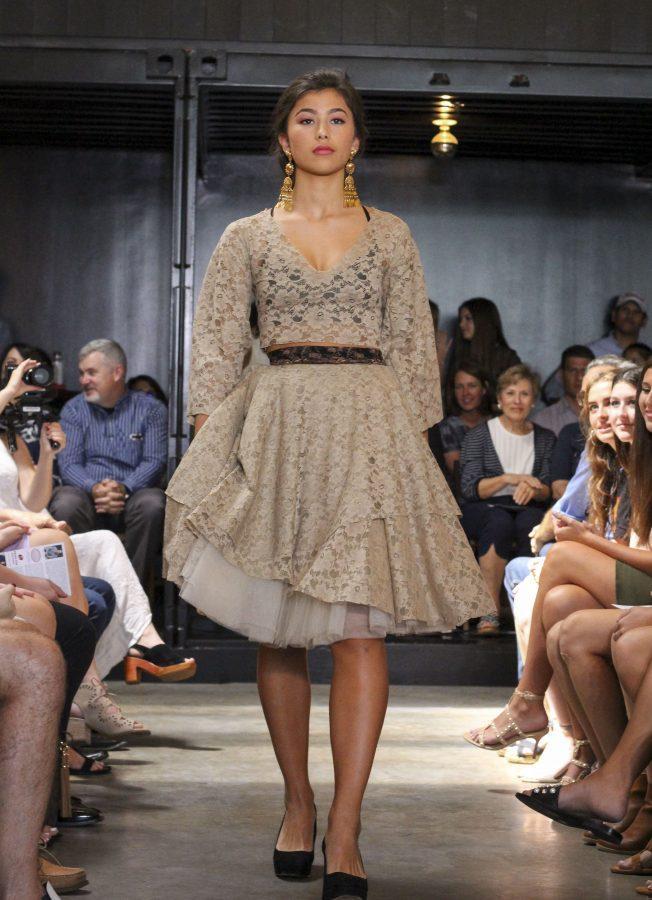 Model: Camille Selis. Designer: Gaby Fagelman.
