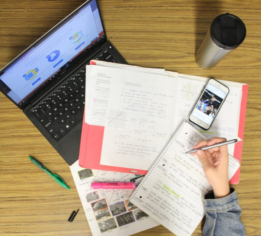 Images like this one of intense studying for finals might be less frequent on campus and in people's homes this spring.