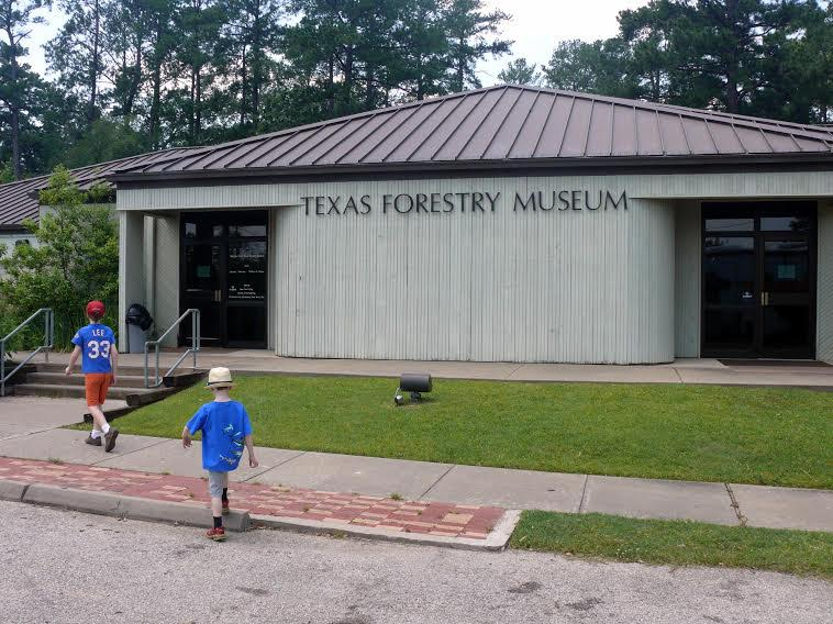 The Texas Forestry museum, located in Lufkin, is a good place to learn about Texas' pine trees and the loggers who cut nearly all of them down. Inside, you can see the enormous blades used to cut the trees down, and the communities that sprang up with the loggers. Photo by Max Rhodes.