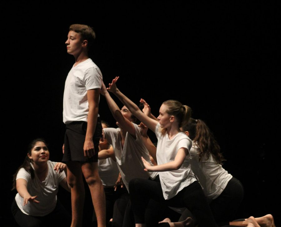 Kollmann stars in his third and final final dance in the end-of-the-year dance show for non-acadamey majors, where he got to exhibit his hip-hop skills along with other types of dance. Photo by Kristen Tibbetts.
