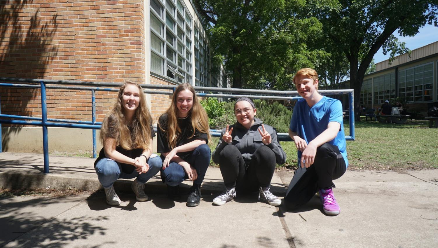 Mitchell, Dart, Thomas and Hritz-Jones are already looking ahead to their second year at Mac as sophomores. Photo by Katie Nalle.