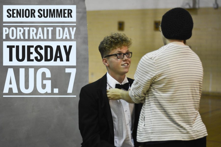Senior summer portrait day set for Tuesday, Aug. 7