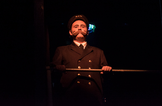 Davis has been hooked on musicals since landing his first MacTheatre role as Murdoch in 2016's Titanic: The Musical. Photo by Doc List Photography.