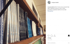 On May 6, 2015, the yearbook staff posted this picture of archived yearbooks to promote sales of surplus 2015 yearbooks. It was the first post on the @macjournalism page.