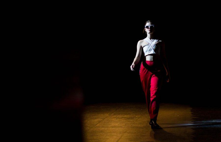 Model: Anna Marceau. Designer: Rory Thomas and Sophia Shampton. Photo by Ian Clennan.