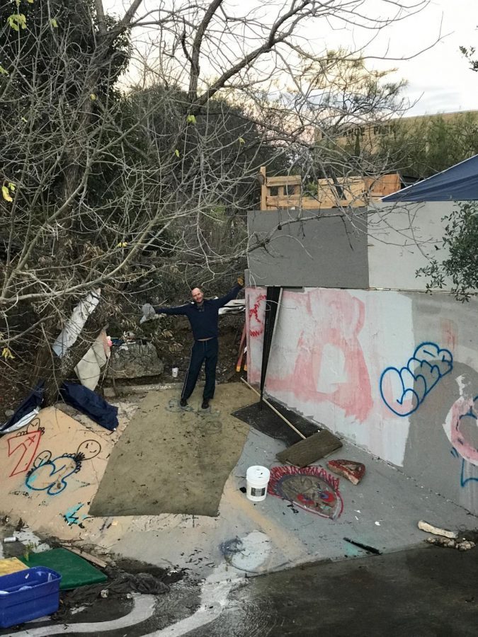 SHANE%27S+SHACK%3A+Shane+has+been+homeless+for+6%C2%BD+years.+He+has+been+living+in+this+place+for+one+month+now.+He+has+decorated+his+place+with+graffiti+and+things+he+has+found+for+free+rather+than+typical+home+furnishings.+When+Shane+got+out+of+jail%2C+he+learned+that+his+dog+had+been+given+up+for+adoption%2C+his+truck+had+been+impounded%2C+and+his+trailer+was+stolen+along+with+all+of+his+belongings+inside.+When+I+asked+Shane+why+he+is+homeless%2C+he+said%2C+%E2%80%9CI+learned+my+own+lessons%2C+I+caused+my+own+problems%3B+my+life+is+my+fault%3B+my+life+is+my+success%2C+and+you+can%E2%80%99t+enjoy+the+sweet+without+the+sour%3B+right+now%2C+I%E2%80%99m+at+the+end+of+a+sour+kick.%E2%80%9D