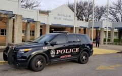 There was an increased police presence on campus today in response to the threats made online yesterday.