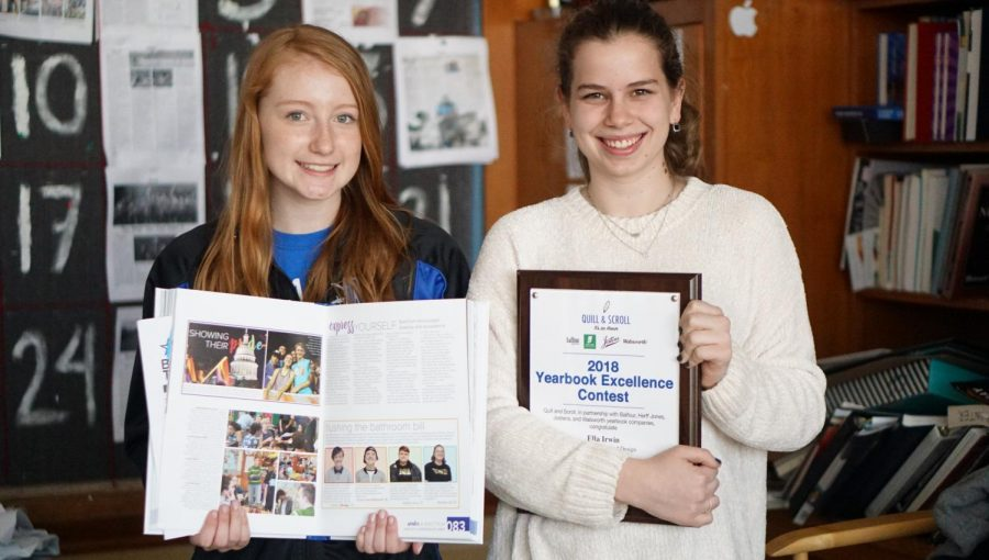 The sweepstakes award from Quill and Scroll is the latest award for Robison and Irwin, the dynamic duo of the 2017-2018 fourth-period journalism class.
