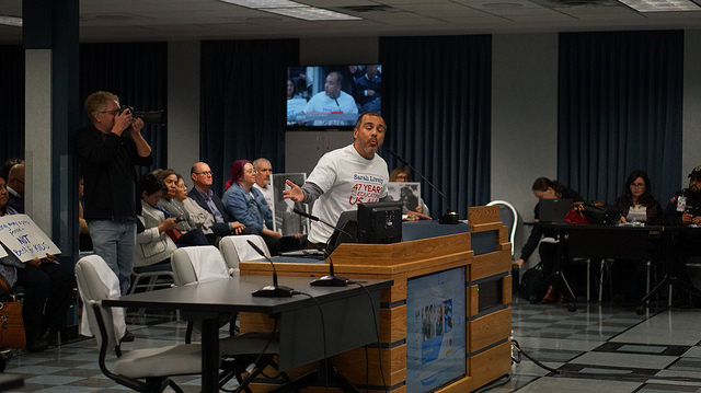 Fulmore teachers and parents urged the Board of Trustees to rename the school after veteran teacher and volunteer Sarah Lively at the Nov. 26 Trustees meeting.