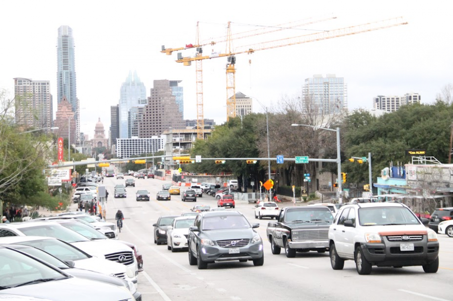 BUILDING UP AND OUT- South Congress leads right up to the Capitol, and whether you are renting scooters and bikes, driving, or walking, you are bound to get a great view of the ever-growing Austin Skyline. One of the tallest and most well known is Frost Bank tower, and the tallest building is The Independent, reaching up to around 690 feet.