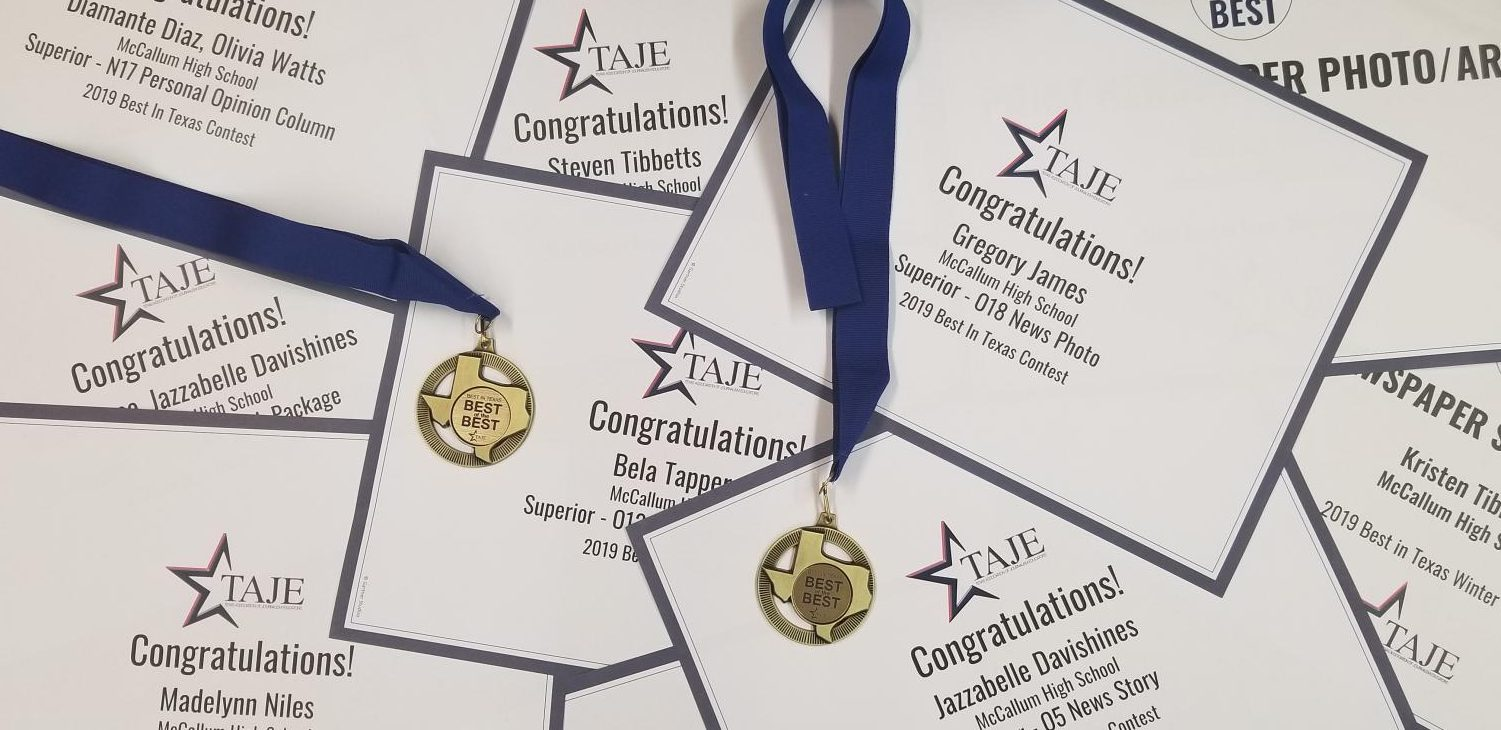 In all the Shield won 124 Best of Texas awards and two Best of the Best of Texas medals in the 2019 TAJE Best of Texas Newspaper Competition.