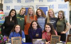 THE SQUAD: Wiley was joined by her teammates of the 2018-19 varsity volleyball team at the ceremony. Photo by Selena De Jesus