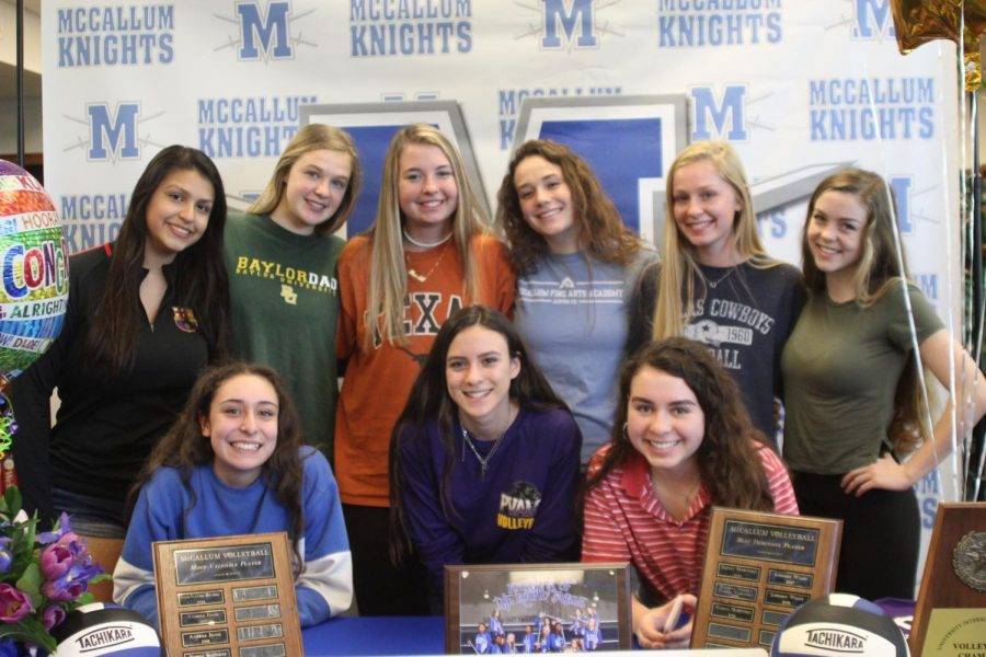 THE+SQUAD%3A+Wiley+was+joined+by+her+teammates+of+the+2018-19+varsity+volleyball+team+at+the+ceremony.+Photo+by+Selena+De+Jesus