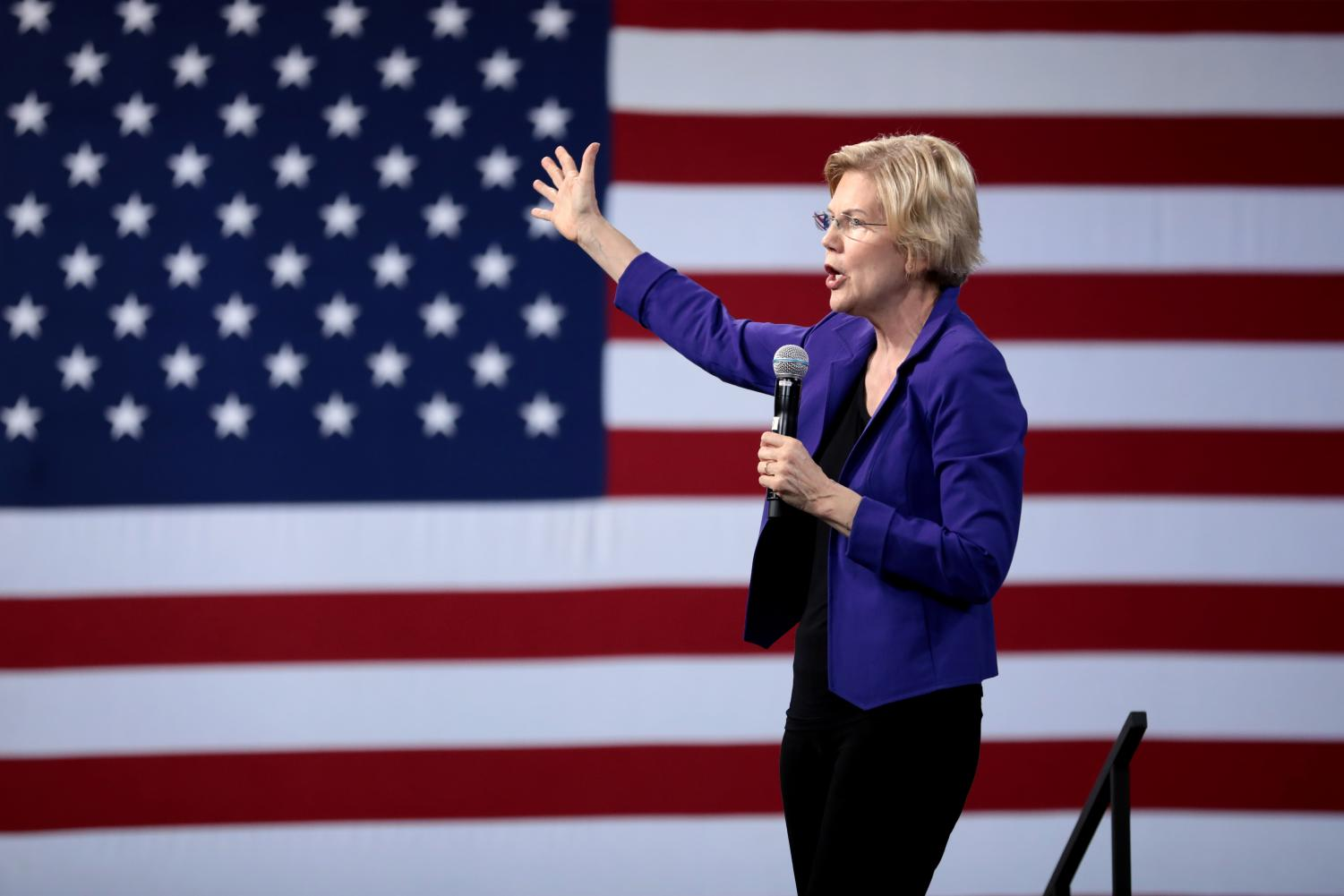 U.S. Senator Elizabeth Warren, D-Mass., speaks at the 2019 National Forum on Wages and Working People in Las Vegas. Recently, she proposed a controversial plan to make a college education more affordable for the majority of Americans. Photo courtesy of Gage Skidmore. Accessed via Flickr Creative Commons. Reposted with permission.
