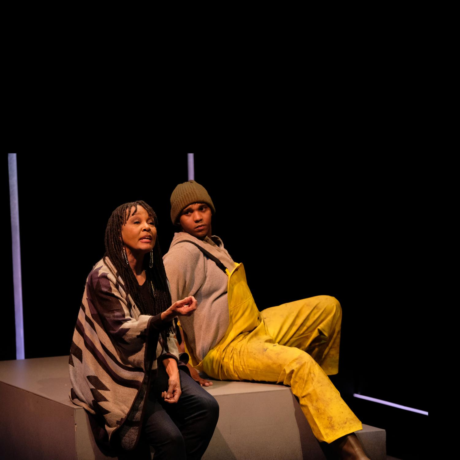 Actress Carla Nickerson and actor Kriston Woodreaux in Notes From the Field at ZACH Theatre. Photo by Kirk Tuck. Reprinted with permission.
