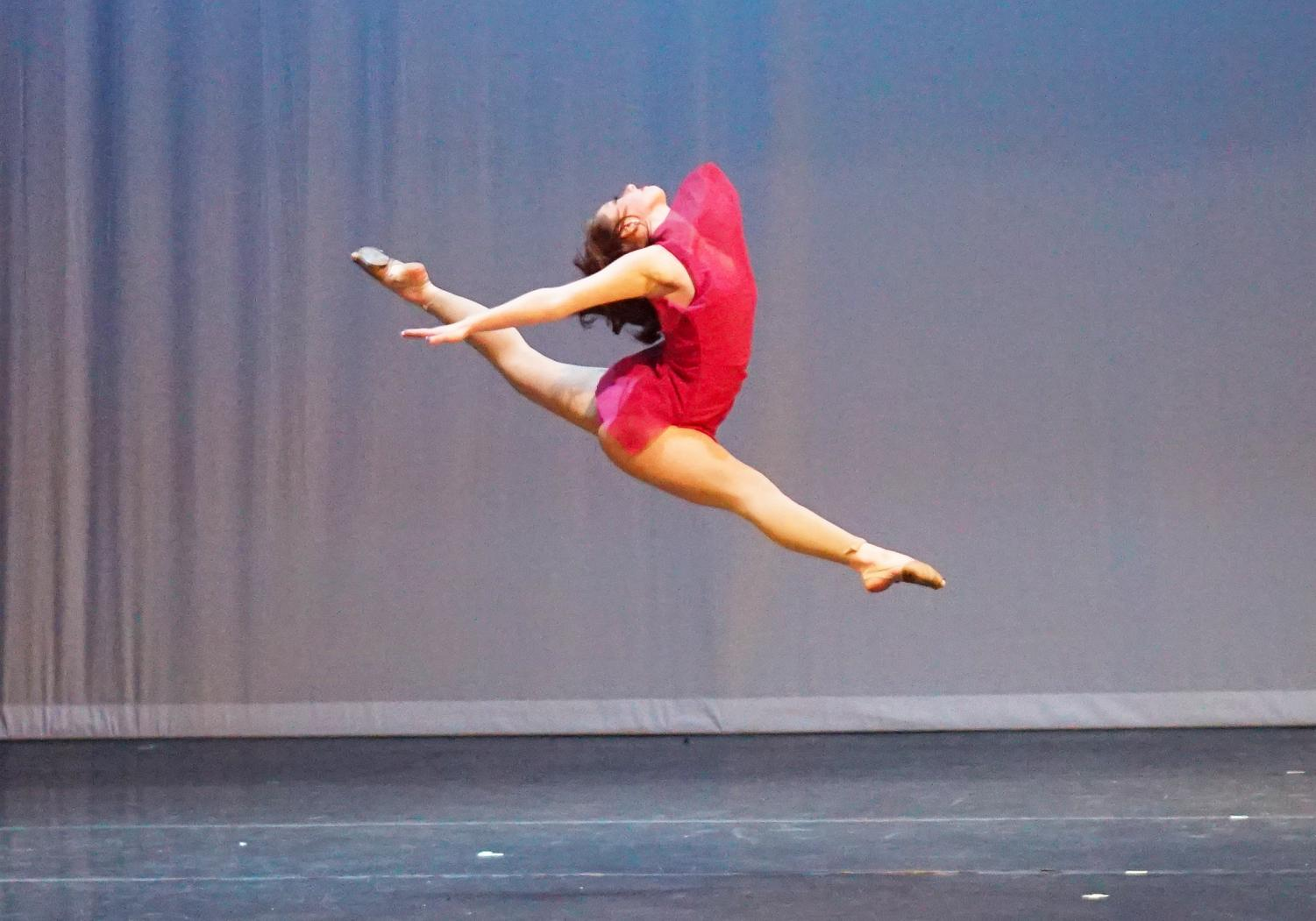 Sophia Salo performs her farewell solo at the Blue Brigade spring show ,