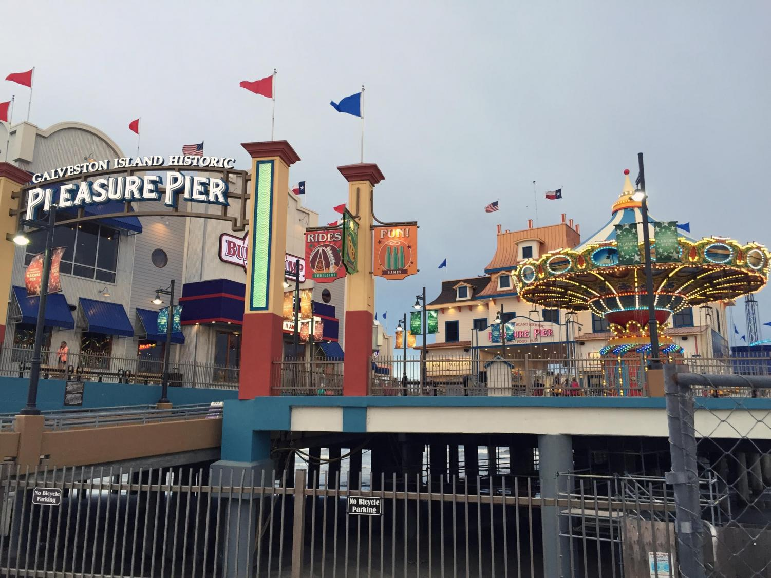 The Galveston Island Historic Pleasure Pier is a classic amusement park that stretches 100 feet out into the Texas gulf coast. Although built in 2012, it is a recreation of the famous Pleasure Pier built in 1943, which was destroyed in by hurricane Carla in 1961. Photo courtesy of the Texas Historical Commission