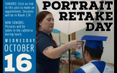 Portrait retakes for all students set for Oct. 16