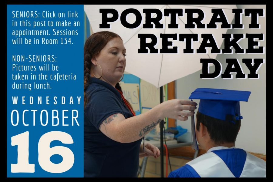Portrait+retakes+for+all+students+and+teachers+will+take+place+on+campus+on+Wednesday%2C+Oct.+16.