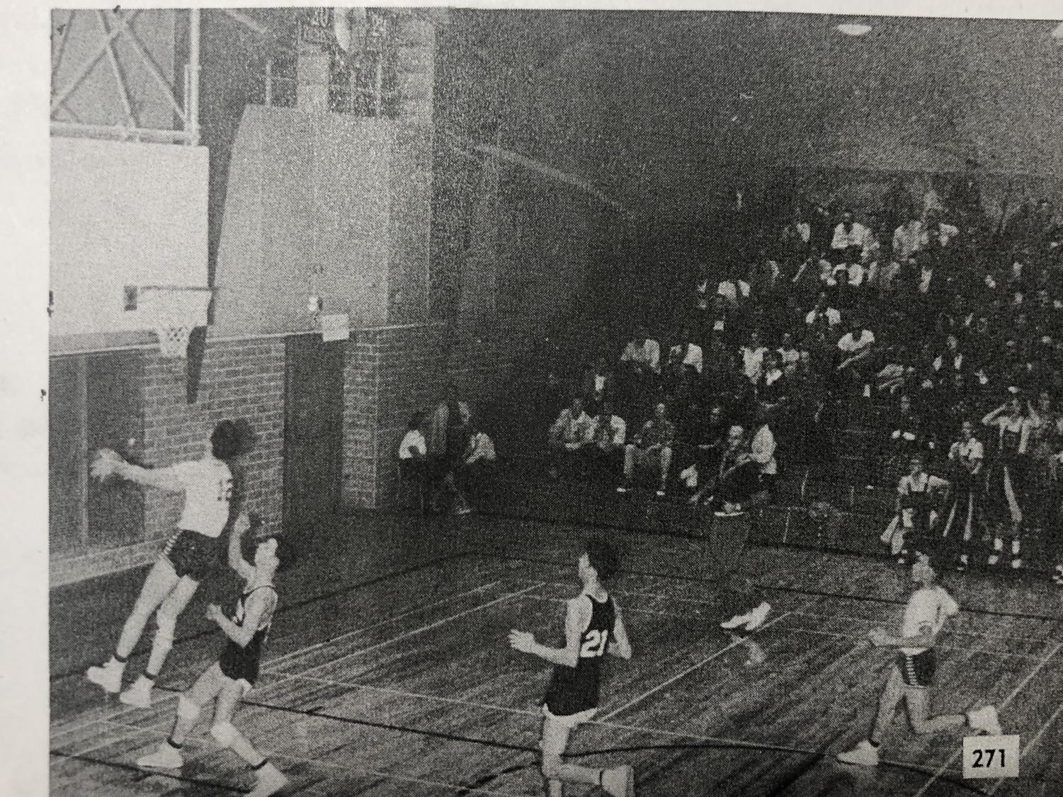 Jay Arnette scored two points against rival Austin High. File photo from 1956 Knight.