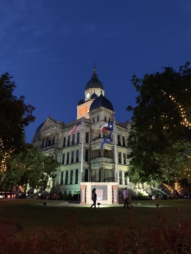The+historic+Denton+County+Courthouse+on+the+square+was+opened+in+1895+and+now+serves+as+a+museum+on+the+history+of+the+building+and+all+things+Denton.+The+courthouse+is+also+the+final+resting+place+of+John+B.+Denton%2C+the+founder+of+the+town+and+namesake+for+the+county.+Photo+by+Max+Rhodes
