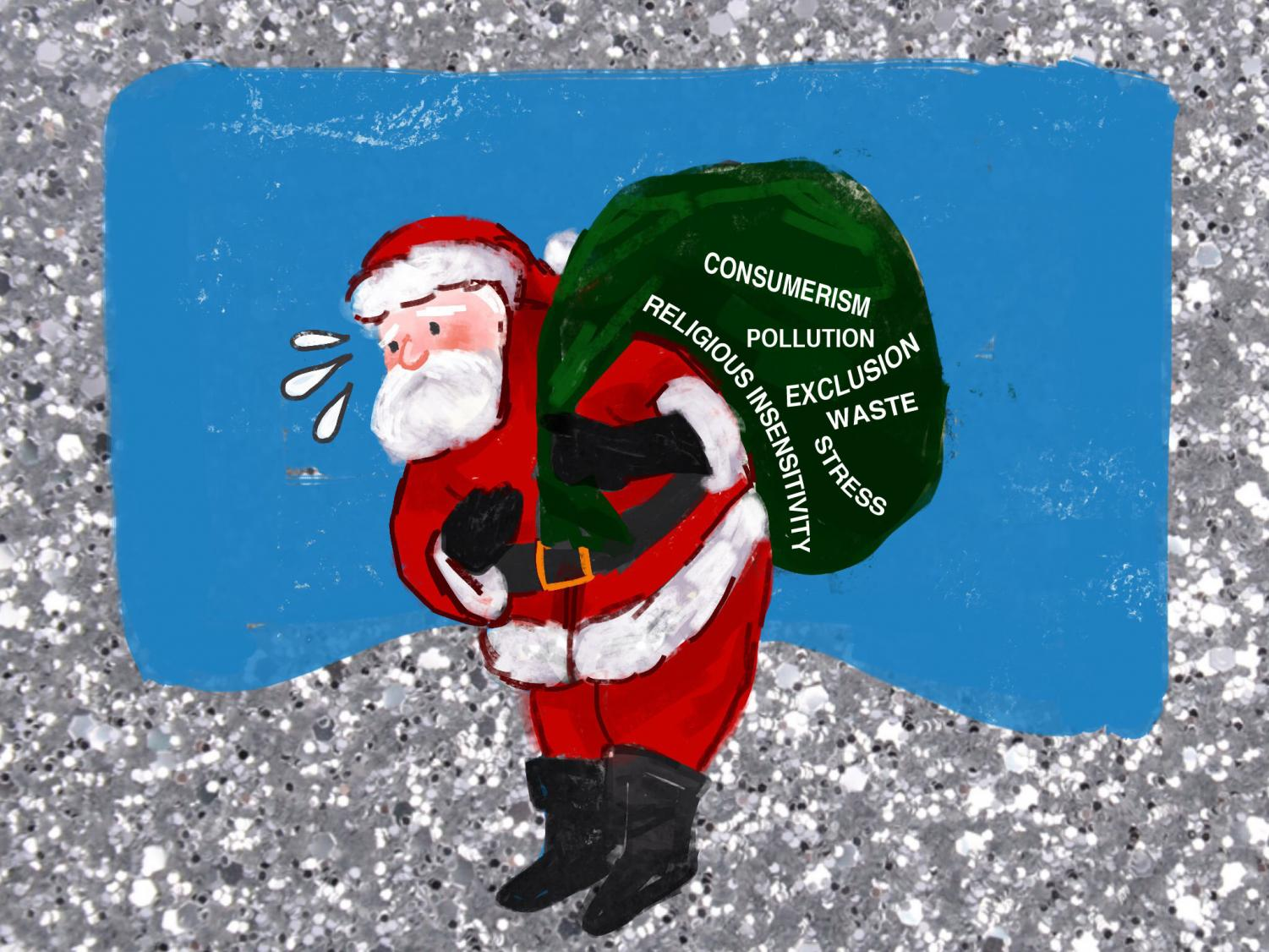Beyond the glitz of lights and tinsel, the holiday season is also a drain on the brain, the wallet and the environment.
