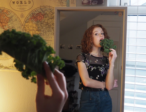 As I say goodbye to gluten and animal products for a week, I open my arms to leafy greens... at least a little bit. Photo by Chloe Marco.