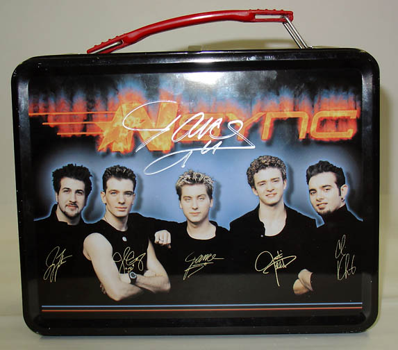 Lance Bass signed Nsync Lunch Box. Image accessed on SpinCycleNYC Flickr account. Image is reposed here with permission under creative commons license.