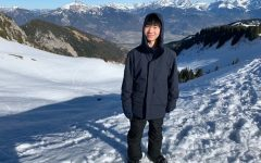 MAN OF THE MOUNTAINS: While staying in Lille, France, junior Kenta Asazu visited the famous French Alps. Asazu found the differences between Texas and France interesting, both culturally and physically.