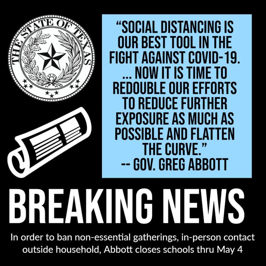 Gov. Abbott closes schools in Texas through May 4