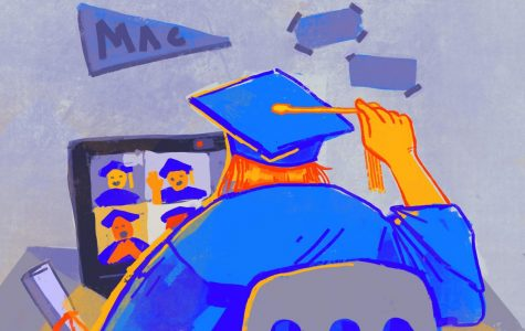 Though end-of-school-year traditions such as graduation are not officially off the table for McCallum seniors yet, it is not too early to be prepared for the possibility that AISD might follow what some schools across the nation are already doing and cancel or postpone all upcoming events. Illustration by Bella Russo.