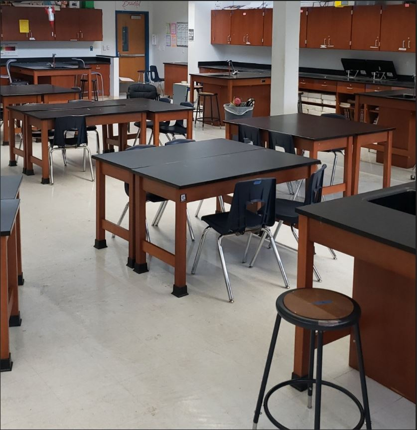 It+may+be+hard+to+believe%2C+but+this+was+Ms.+Baughman%27s+forensics+classroom+before+the+custodians+gave+the+room+the+deep+clean.++The+rooms+will+stay+like+this+for+a+while+longer+than+usual+after+Austin+ISD+superintendent+Dr.+Paul+Cruz+announced+today+that+he+was+extending+spring+break+for+students+through+April+3+to+minimize+the+risk+of+exposure+to+the+coronavirus+and+to+comply+with+Mayor+Steve+Adler%27s+order+to+prohibit+gatherings+of+250+or+more+through+May+1.+Photo+by+Elise+Baughman.