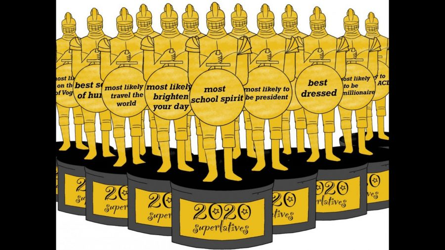 Seniors have until March 11 to cast their ballots to determine which finalists will win each senior superlative category. Graphic by Anna McClellan.