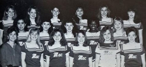 "The original caption from the 1990 Knight yearbook, the year that Nancy Honeycutt Searle then Kudela (first from left on front row), became Blue Brigade director, reads: ""It has been a ""changing of the guard"" for the drill team. About time a sponsor gets into the rhythm of the group, something happens and along comes a new sponsor. Within the last three years, the groups has had four sponsors with the last being Nancy Kudela. This group hopes this one takes so some continuity can begin to develop. The squad continues to struggle with only a few members."" How"