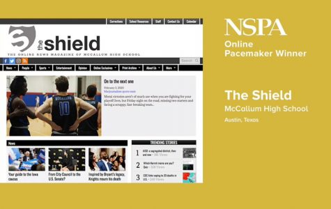 During Friday's NSPA live video broadcast, the Shield Online was named one of 16 2020 NSPA Online Pacemaker Award winners. It's the Shield's third straight Online Pacemaker Award.