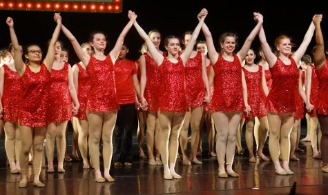 """There were juniors about to become seniors when the Class of 2020 Blue Brigade members  took their final bows after the """"Last Dance"""" at the 2019 spring show in the MAC on April 13. Their final bow as departing seniors would have looked similar had not COVID-19 prompted the show"""